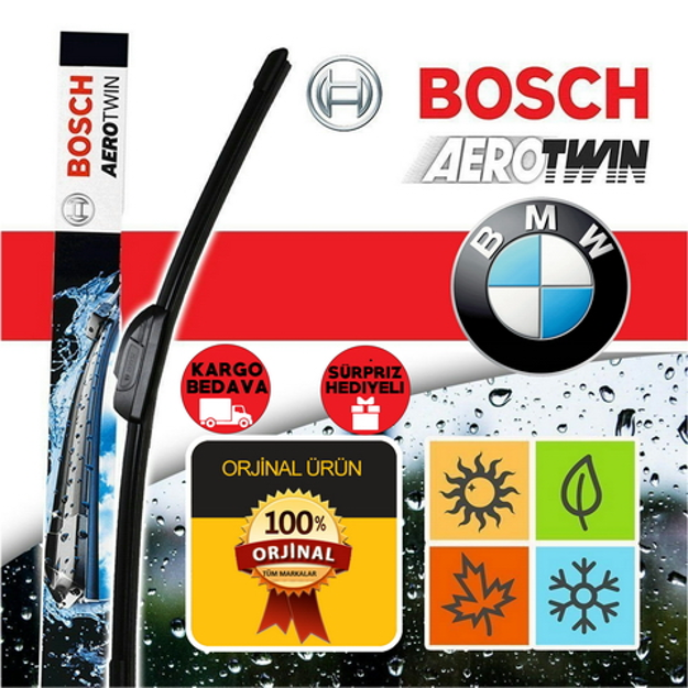 Bmw E60 Silecek Takımı 2004-2009 Bosch Aerotwin Plus Set resmi