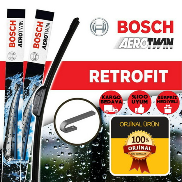 Peugeot Partner Silecek Takımı 2002-2009 Bosch Aerotwin resmi