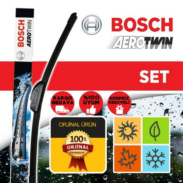 Ford Mondeo Silecek Seti 2007-2014 Bosch Aerotwin Set Am467s resmi