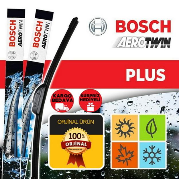 Fiat Grande Punto Silecek 2005-2014 Bosch Aerotwin Plus Set resmi