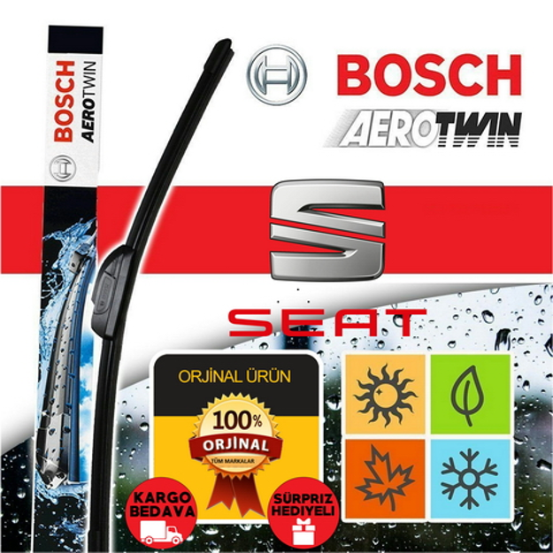 Seat Leon Silecek Seti 2013-2018 Mk3 Bosch Aerotwin Set A945s resmi