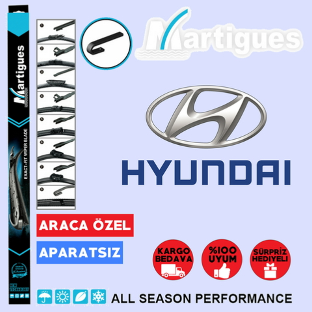 Hyundai Excel Muz Silecek Takımı 1994-2000 resmi
