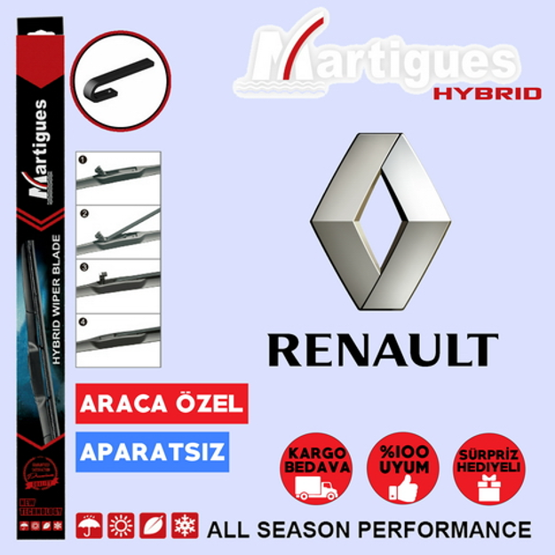 Renault Megane 2 Hybrid Silecek Takımı 2003-2005 resmi