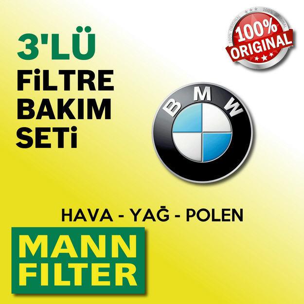 Bmw 3.20 D Mann-filter Filtre Bakım Seti e46 2002-2005 resmi