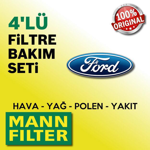 Ford Focus 1.6 TDci Mann-filter Filtre Bakım Seti e5 2011-2015 resmi