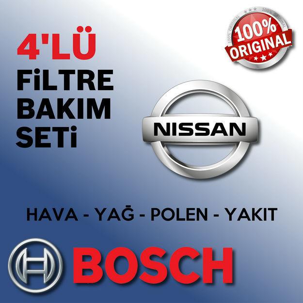 Nissan Qashqai 1.5 Dci Bosch Filtre Bakım Seti 2014-2017 resmi