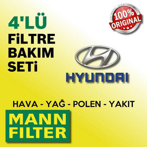 Hyundai İ20 1.4 Crdi Mann-filter Filtre Bakım Seti 2009-2013 resmi