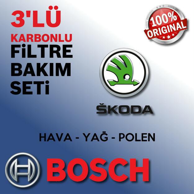 Skoda Roomster 1.4 Tdi Bosch Filtre Bakım Seti 2006-2010 resmi