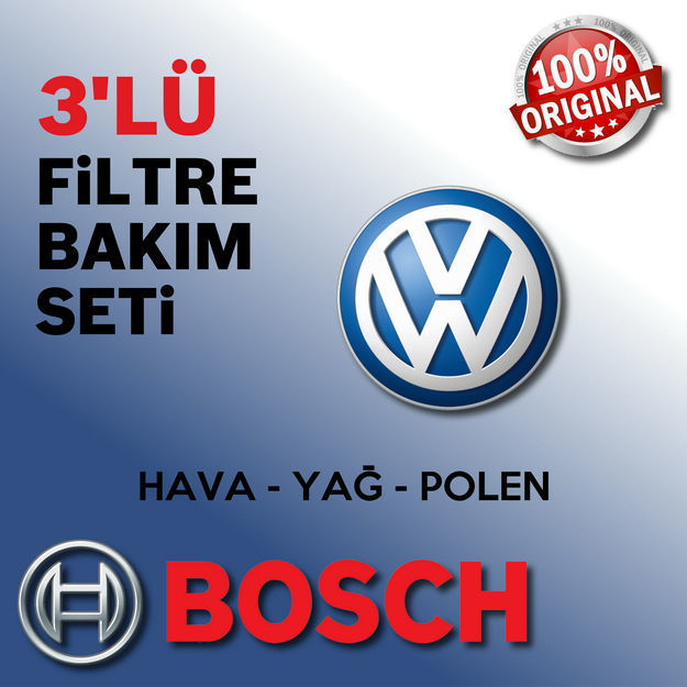 Vw Polo 1.6 Bosch Filtre Bakım Seti 1996-1999 resmi