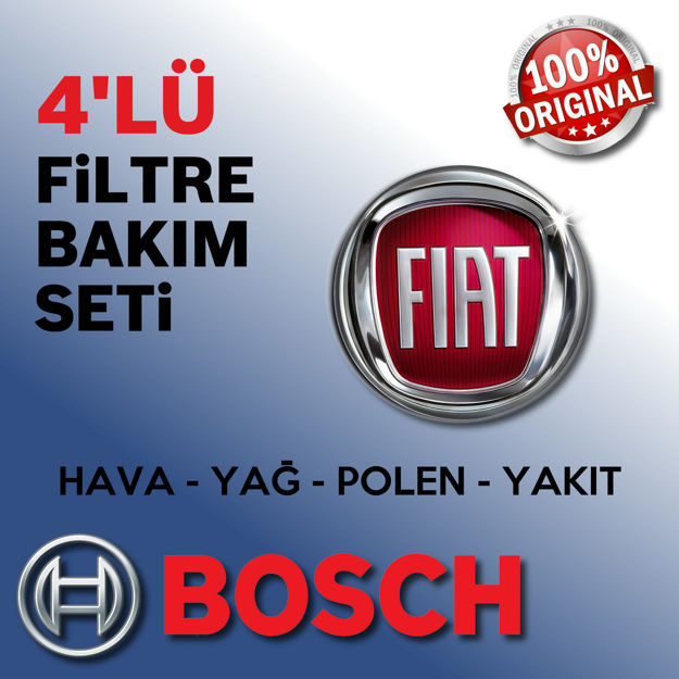 Fiat Linea 1.3 Multijet Bosch Filtre Bakım Seti 2007-2012 66kw resmi