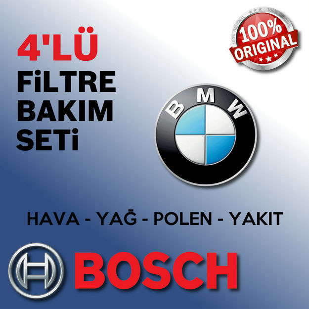 Bmw 3.16 Bosch Filtre Bakım Seti E46 2003-2005 resmi