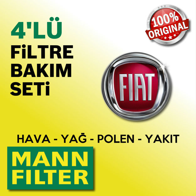 Fiat Albea 1.6 Mann-filter Filtre Bakım Seti 2002-2008 resmi