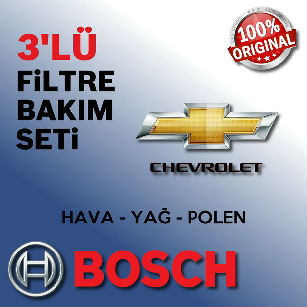 Chevrolet Aveo 1.4 Bosch Filtre Bakım Seti 2006-2008 resmi