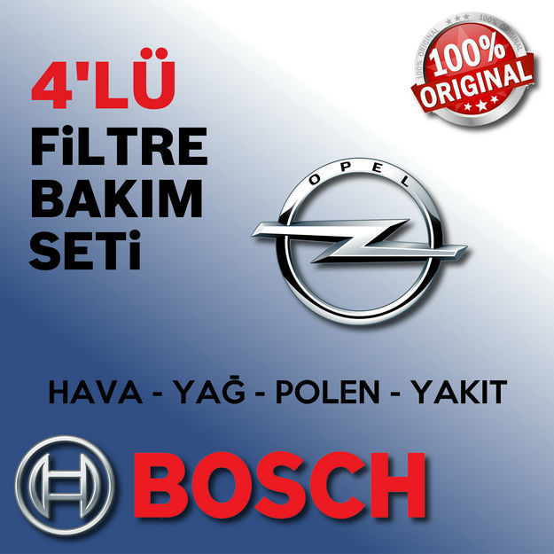 Opel Meriva A 1.6 Bosch Filtre Bakım Seti 2003-2006 resmi