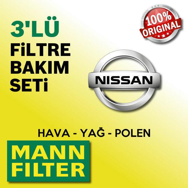 Nissan Micra 1.2 Mann-filter Filtre Bakım Seti K13 2011-2015 resmi