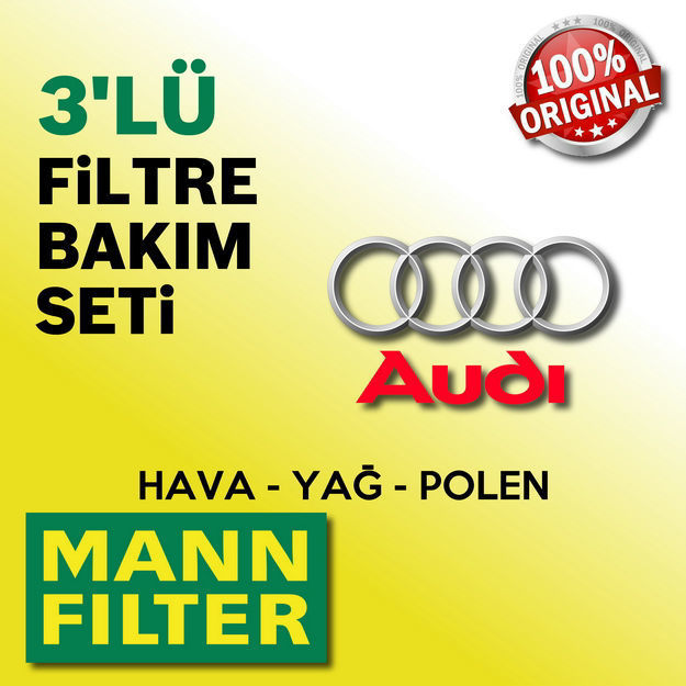 Audi A4 2.0 Tdi Mann-filter Filtre Bakım Seti B7 2005-2008 resmi
