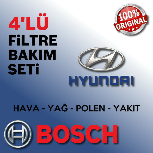 Hyundai Tucson 2.0 Crdi Bosch Filtre Bakım Seti 2009-2010 resmi