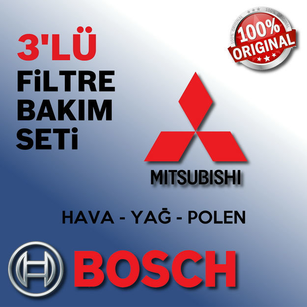 Mitsubishi Lancer 1.6 Bosch Filtre Bakım Seti 2010-2015 resmi