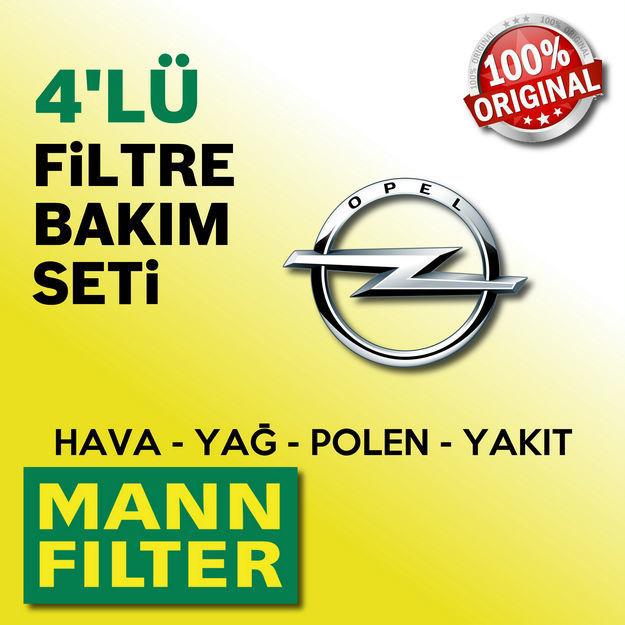 Opel Corsa C 1.4 Twinport Mann-filter Filtre Bakım Seti 2004-2006 resmi