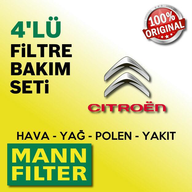 Citroen C4 1.6 E-hdi Mann-filter Filtre Bakım Seti 2011-2015 resmi