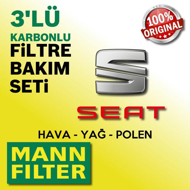 Seat Altea 1.6 Mann-filter Filtre Bakım Seti 2004-2010 resmi