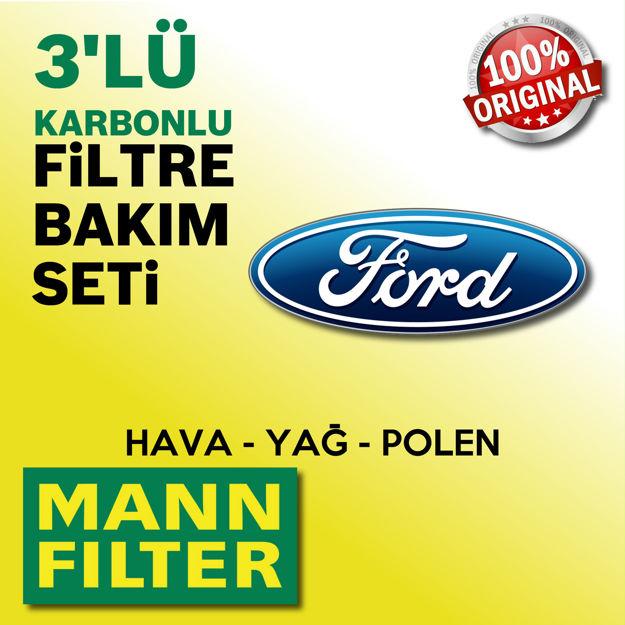 Ford Fiesta 1.6 Mann-filter Filtre Bakım Seti 2013-2016 resmi