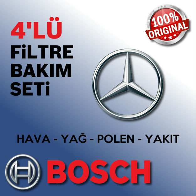 Mercedes Clc 160 Bosch Filtre Bakım Seti 2009-2011 resmi