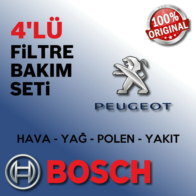 Peugeot 206+ 1.4 Hdi Bosch Filtre Bakım Seti 2009-2014 resmi