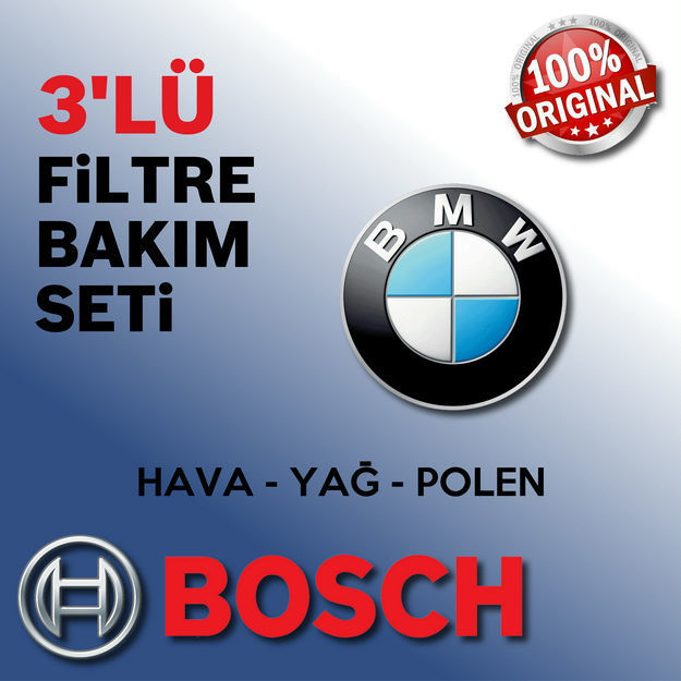 Bmw 3.16 Bosch Filtre Bakım Seti E46 1998-2002 resmi