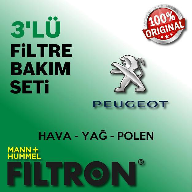 Peugeot 206 1.4 Filtron Filtre Bakım Seti 1998-2009 resmi