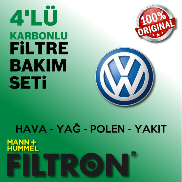Vw Passat 1.6 Tdi Filtron Filtre Bakım Seti 2015-2018 Dcx resmi
