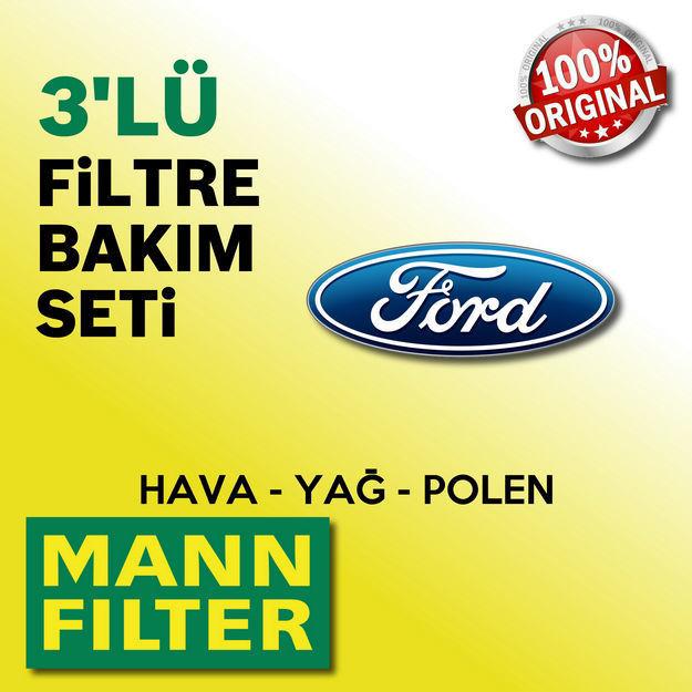Ford Focus 1.6 Mann-filter Filtre Bakım Seti 1998-2004 resmi