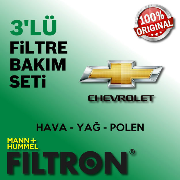 Chevrolet Kalos 1.2 Filtron Filtre Bakım Seti 2005-2008 resmi