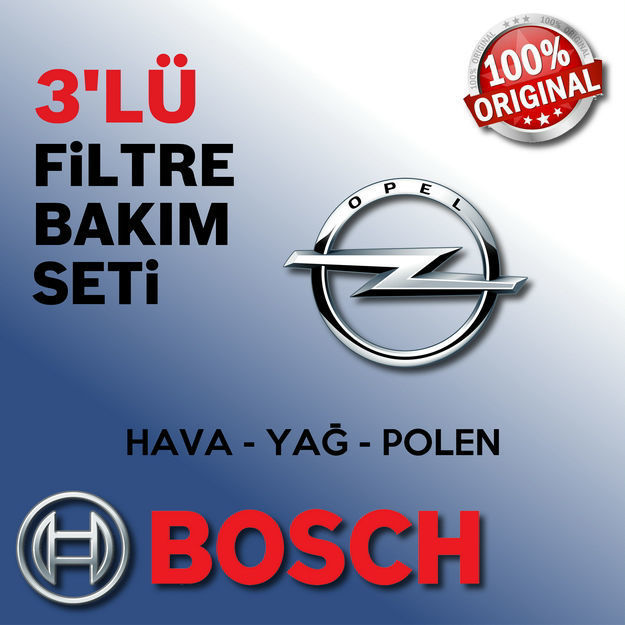 Opel Meriva B 1.3 Cdti Bosch Filtre Bakım Seti 2010-2014 resmi