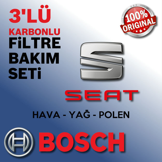 Seat Leon 1.6 Bosch Filtre Bakım Seti 2003-2006 Bcb resmi