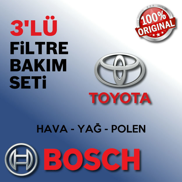 Toyota Avensis 1.6 Bosch Filtre Bakım Seti 2003-2008 resmi