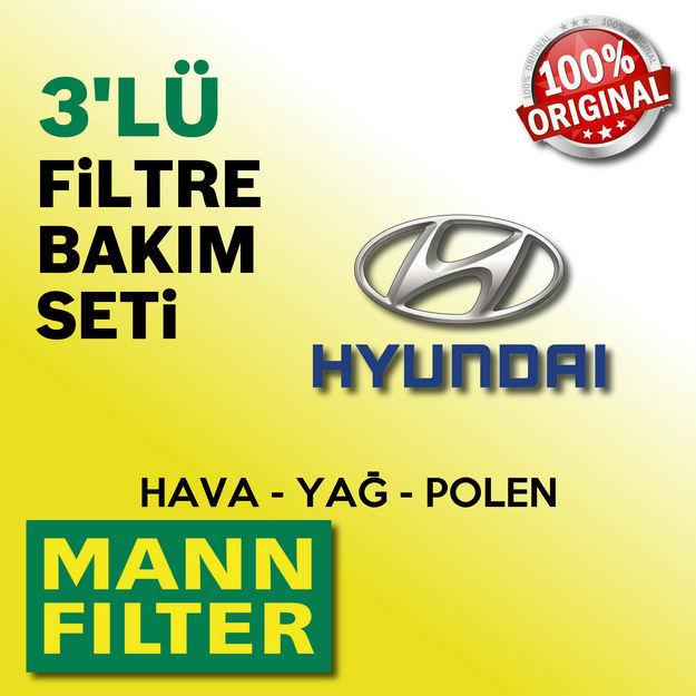 Hyundai Accent Admire 1.6 Mann-filter Filtre Bakım Seti 2003-2006 resmi