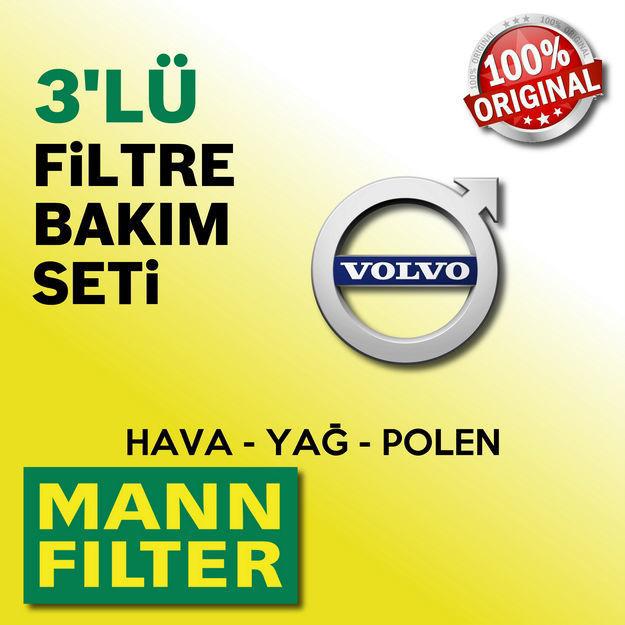 Volvo S40 1.6 Mann-filter Filtre Bakım Seti 2000-2005 resmi