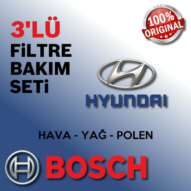 Hyundai Accent Era 1.6 Bosch Filtre Bakım Seti 2006-2011 resmi
