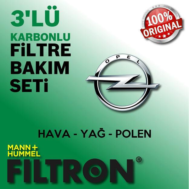 Opel Astra J 1.6 Cdti Filtron Filtre Bakım Seti 2014-2017 resmi