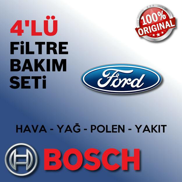 Ford Fusion 1.4 Tdci Bosch Filtre Bakım Seti 2003-2013 resmi