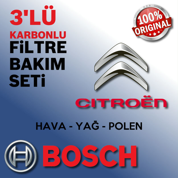 Citroen C4 Picasso 1.6 Hdi Bosch Filtre Bakım Seti 2010-2015 resmi