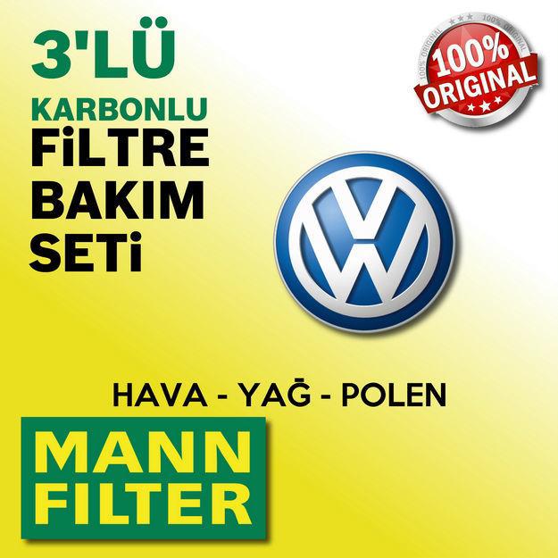 Vw Jetta 1.4 Tsi Mann-filter Filtre Bakım Seti 2007-2010 Bmy resmi