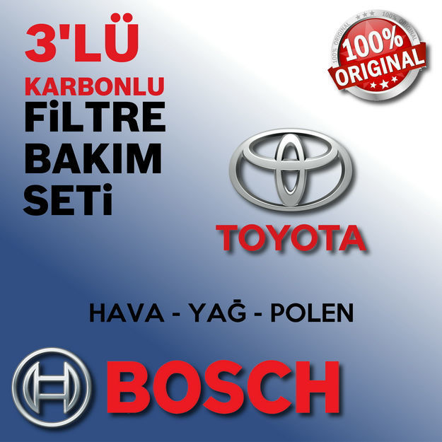 Toyota Yaris 1.33 Bosch Filtre Bakım Seti 2009-2016 resmi