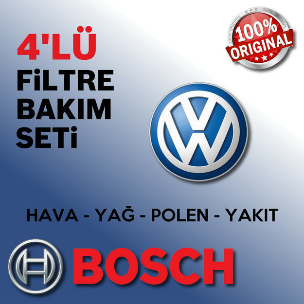 Vw Golf 4 1.6 16v Bosch Filtre Bakım Seti 2000-2006 resmi