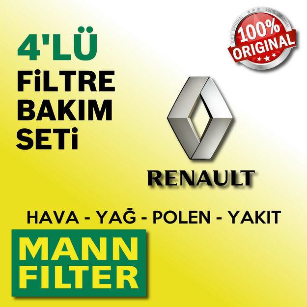 Renault Fluence 1.5 Dci Mann-filter Filtre Bakım Seti 2010-2016 resmi