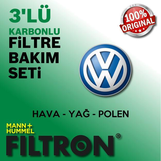 Vw Golf 6 1.6 Tdi Filtron Filtre Bakım Seti 2008-2012 resmi
