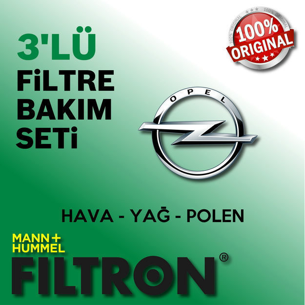 Opel Corsa C 1.2 Twinport Filtron Filtre Bakım Seti 2005-2007 resmi