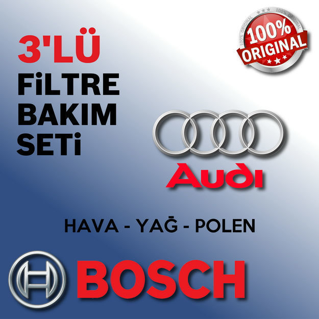 Audi A4 2.0 Tdi Bosch Filtre Bakım Seti B7 2005-2008 resmi