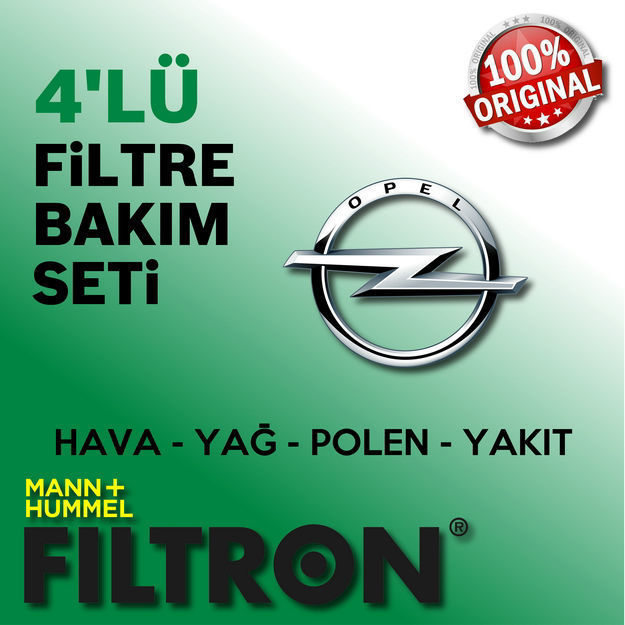 Opel Corsa C 1.4 Twinport Filtron Filtre Bakım Seti 2004-2006 resmi